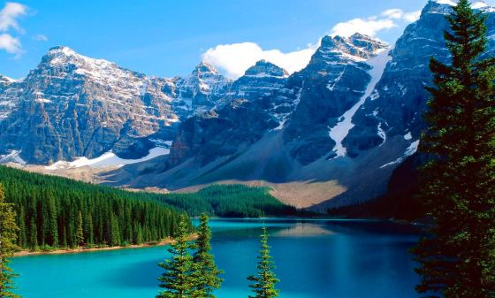 Fondo Paisaje Lago Canadiense